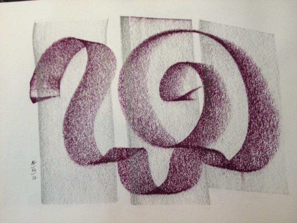 Pampres, dessin aux pastels secs sur papaier Canson